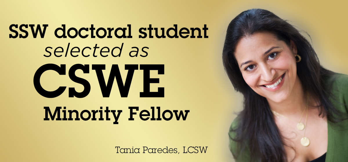 SSW doctoral student selected as CSWE Minority Fellow