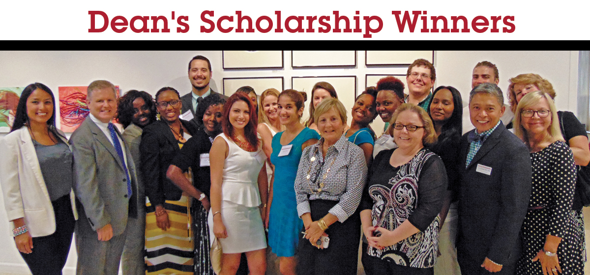 College of Nursing and Health Sciences students receive Dean's Scholarship Award