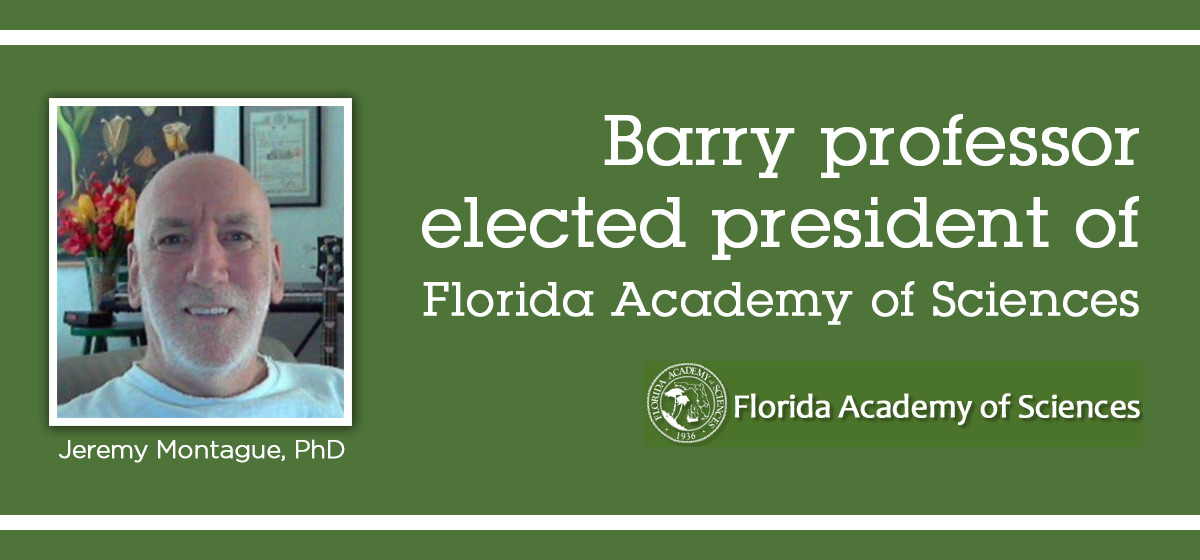 Barry professor elected president of Florida Academy of Sciences