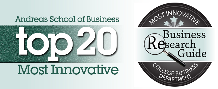 Andreas School of Business ranked among top 20 in nation as one of the most innovative small college business departments