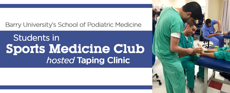 Students in Sports Medicine Club hosted Taping Clinic