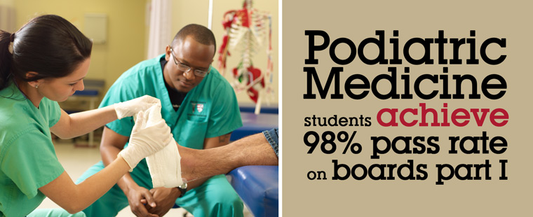 Podiatric Medicine students achieve 98 percent pass rates on boards part I