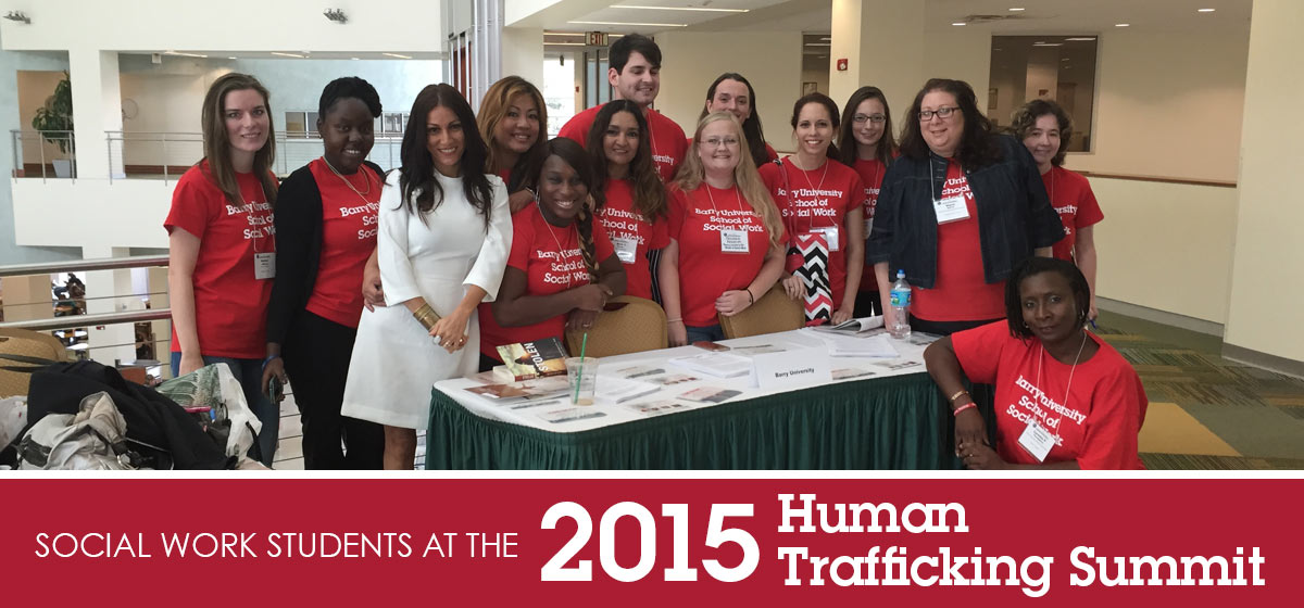 Social Work students at the 2015 Human Trafficking Summit