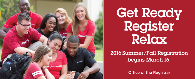 Summer/Fall 2016 Registration Begins March 16