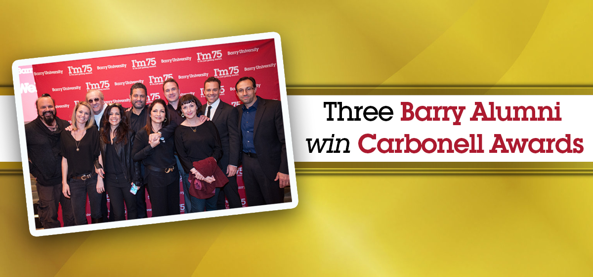 Barry alumni win distinguished Carbonell Awards
