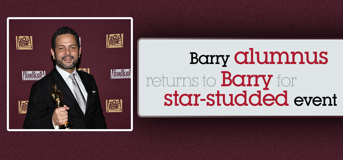 Barry alumnus returns to Barry for star-studded event