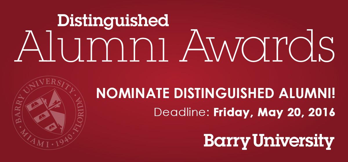 Nominations Open: 2017 Barry University Distinguished Alumni Awards