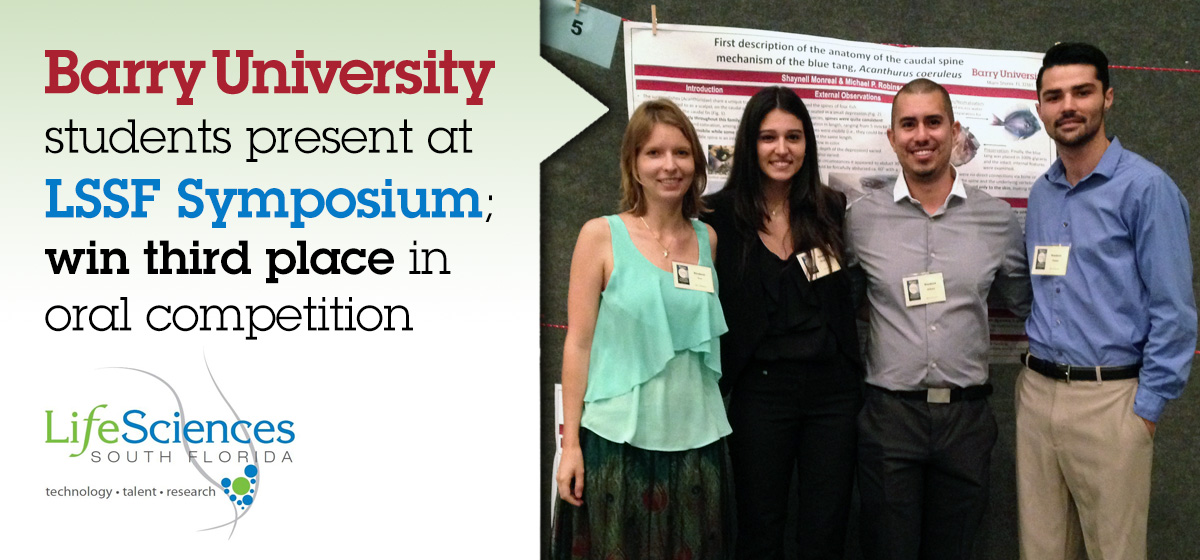 Barry students present at LSSF Symposium; win third place in oral competition