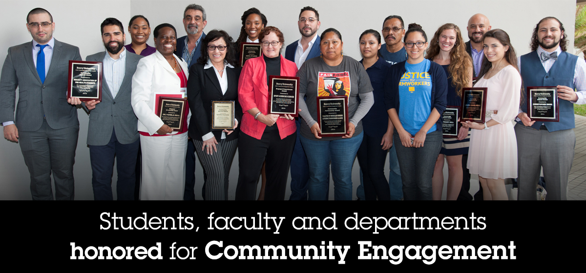 Students, faculty and departments honored for Community Engagement