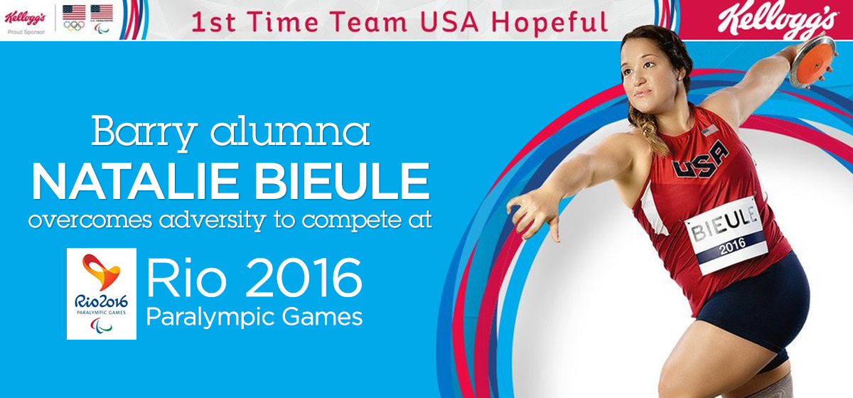 Barry alumna Natalie Bieule overcomes adversity to compete at Rio 2016 Paralympic Games