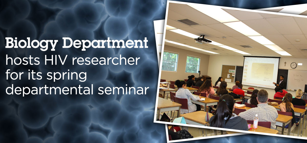 Biology Department hosts HIV researcher for its spring departmental seminar