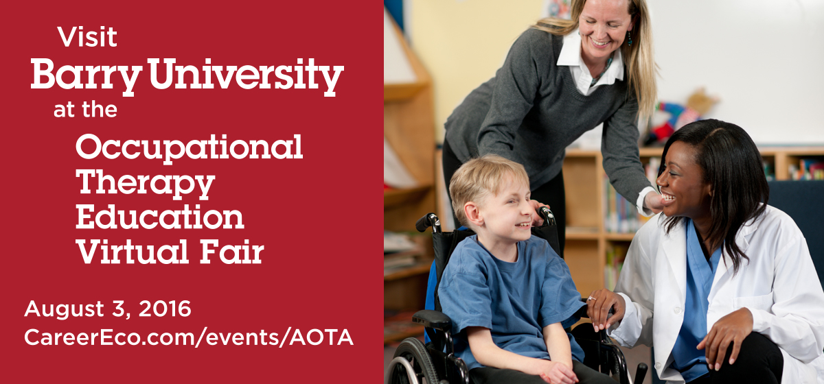 Visit Barry University at the Occupational Therapy Education Virtual Fair