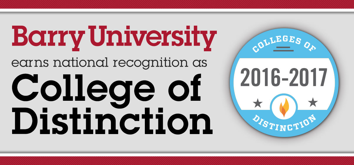 Barry University earns national recognition as College of Distinction