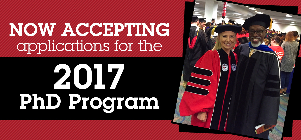 Now accepting applications for the 2017 PhD Program