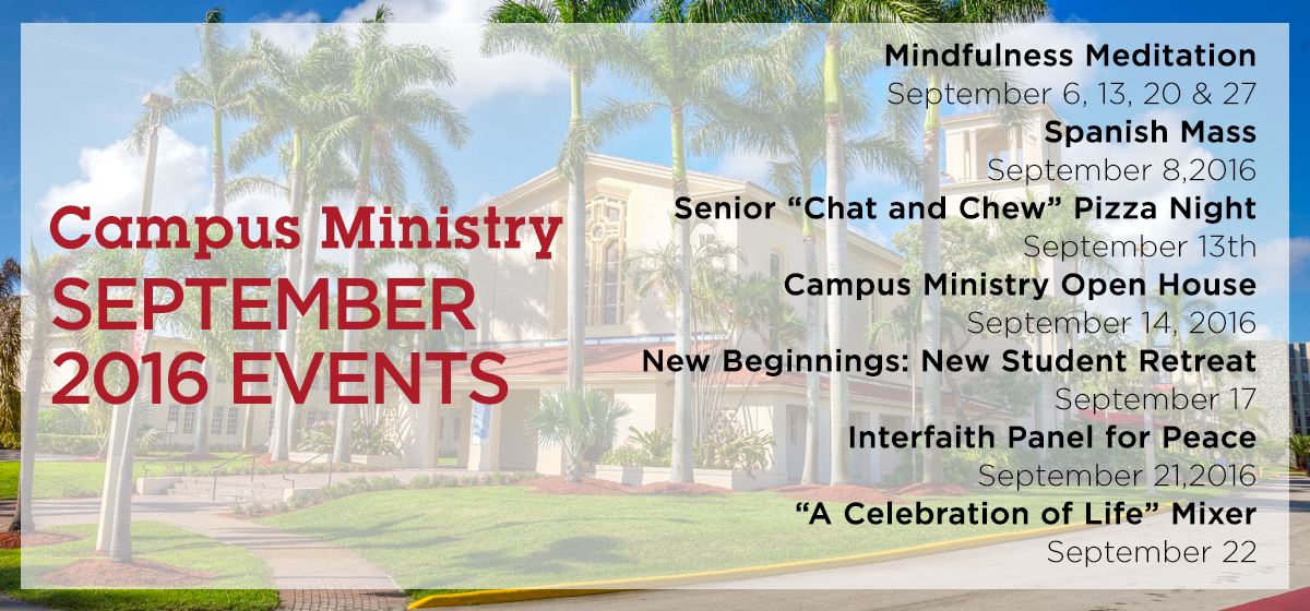 Campus Ministry: September 2016 Events