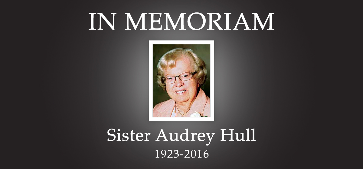 Remembering Sister Audrey Hull