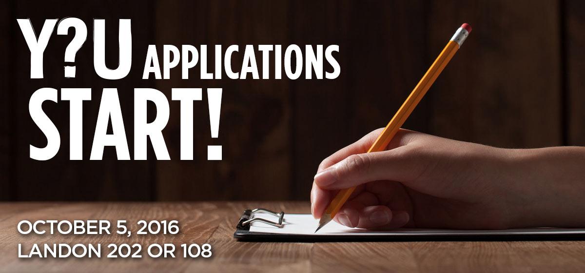 Y?U Applications Start!