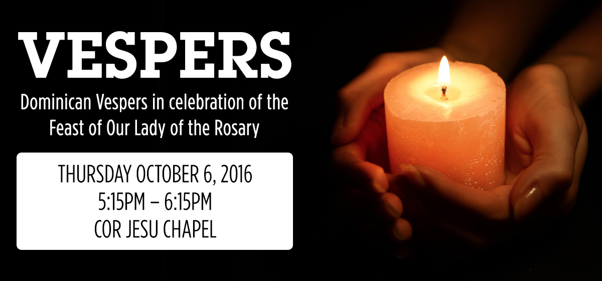 Vespers: Feast of Our Lady of the Rosary