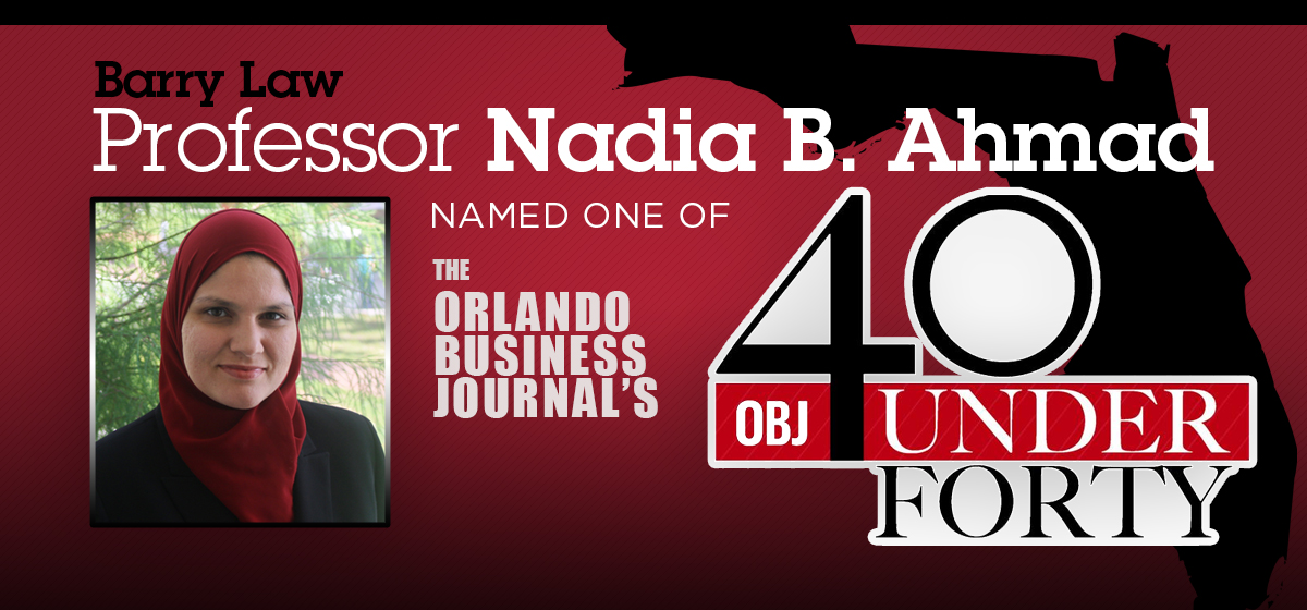 Barry Law Professor recognized as one of Orlando Business Journal's 40 under 40