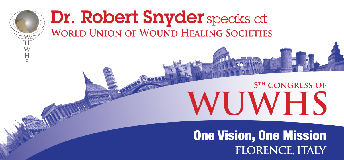 Dr. Robert Snyder speaks at World Union of Wound Healing Societies in Italy