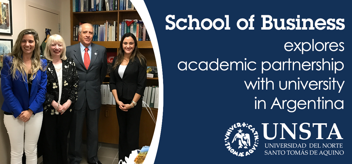 School of Business explores academic partnership with university in Argentina