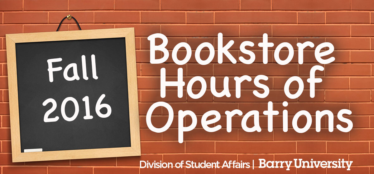 Bookstore Hours of Operation