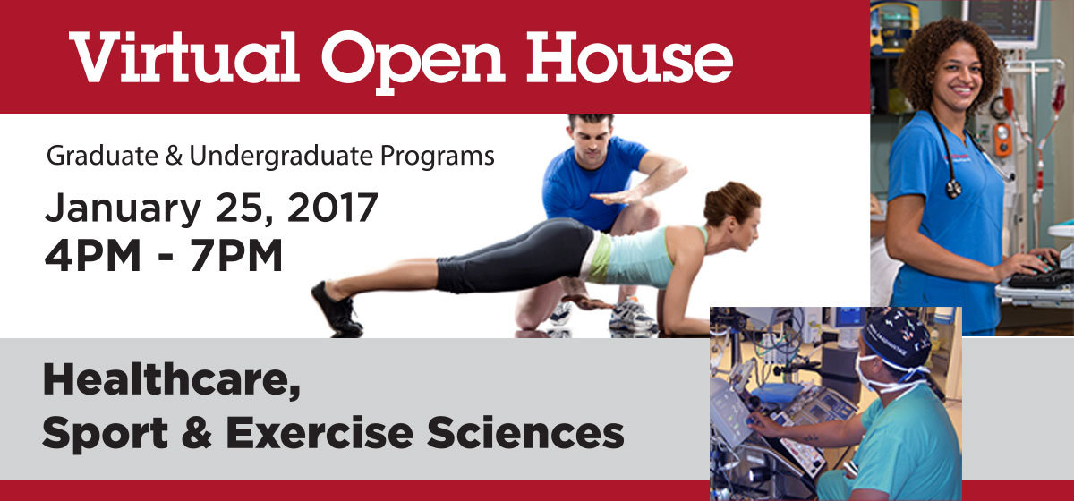 Healthcare, Sport & Exercise Sciences Vitual Open House