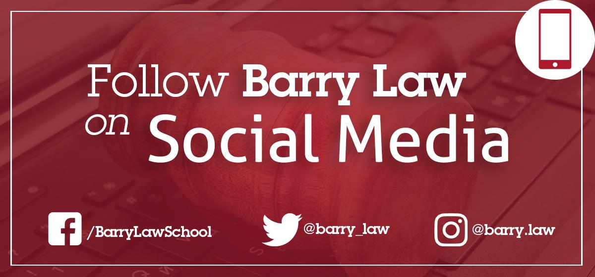 Follow Barry Law on Social Media!