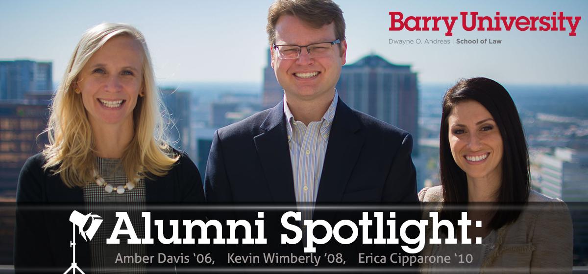 Alumni Spotlight: Amber Davis, Kevin Wimberly and Erica Cipparone.