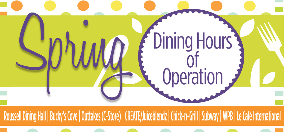 Spring 2017: Dining Hours of Operation
