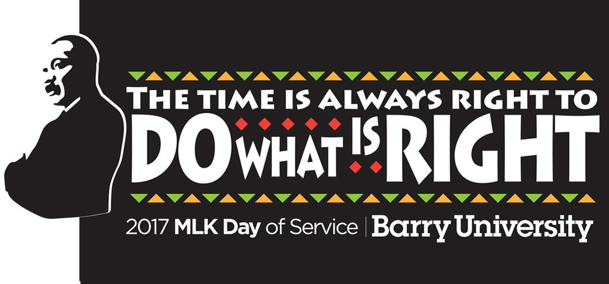 Barry University students volunteer in the community for MLK Day of Service