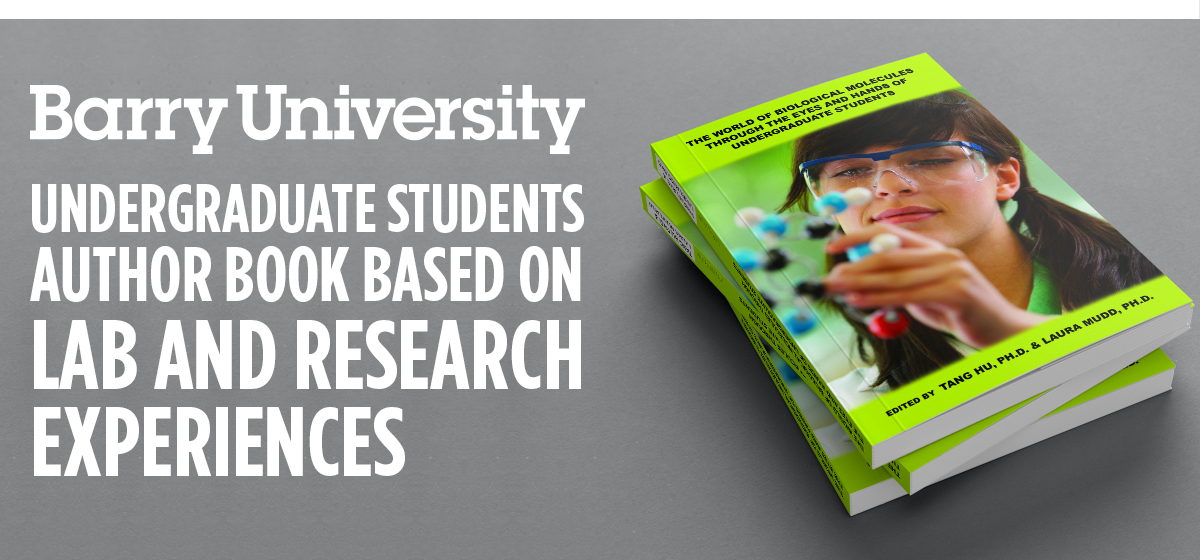 Barry undergraduate students author book based on lab and research experiences