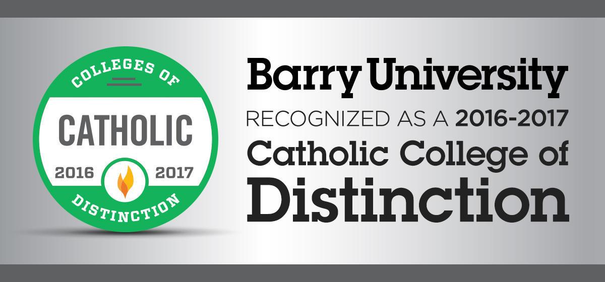 Barry recognized as a 2016-2017 Catholic College of Distinction