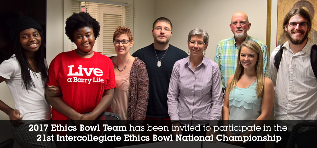 2017 Ethics Bowl Team has been invited to participate in the 21st Intercollegiate Ethics Bowl National Championship