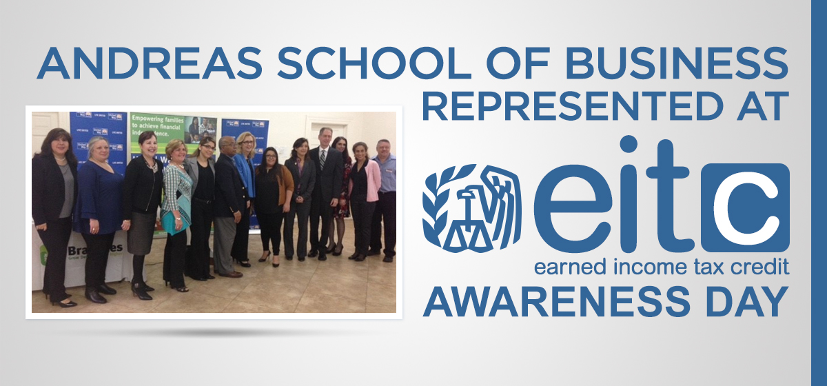 Andreas School of Business represented at EITC Awareness Day