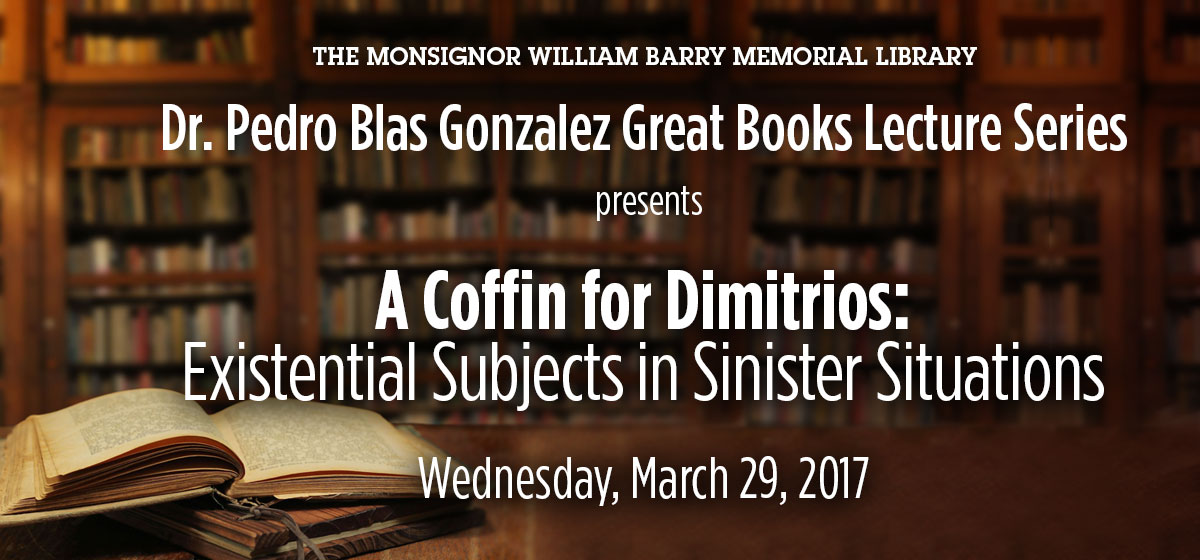 Explore existential subjects in sinister situations, March 29