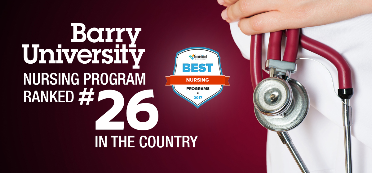 Barry Univ. nursing program ranked 26th in the country