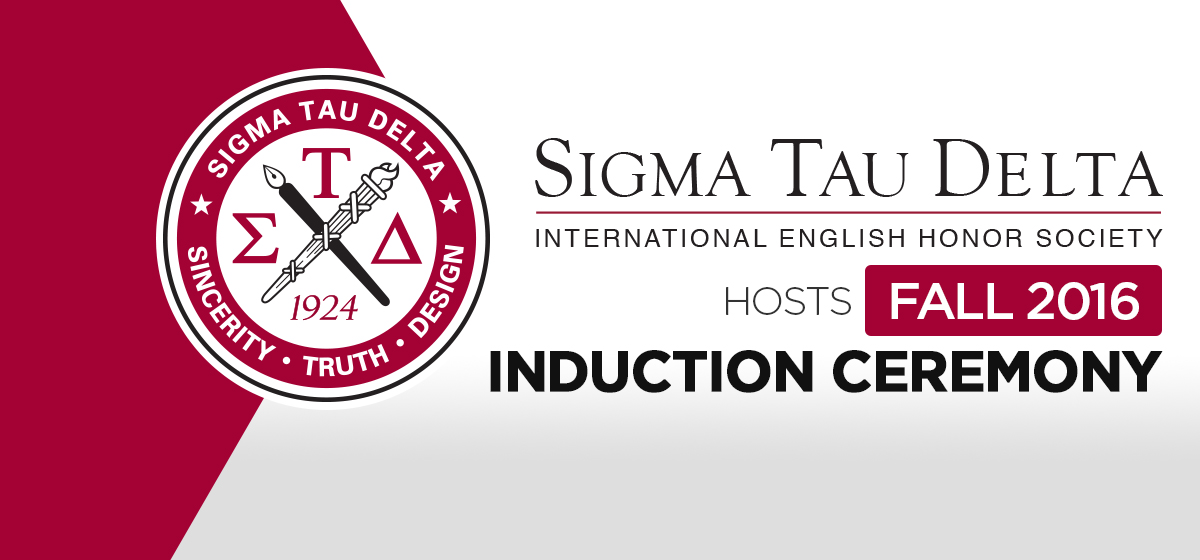 Sigma Tau Delta hosts fall 2016 Induction Ceremony