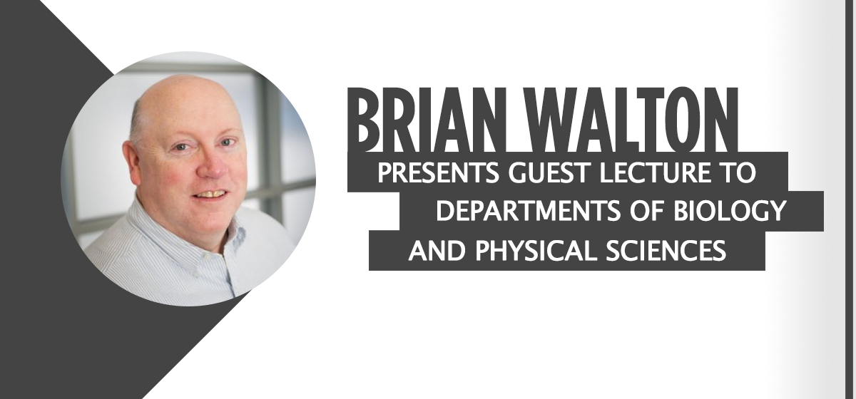 Brian Walton presents guest lecture to Departments of Biology and Physical Sciences