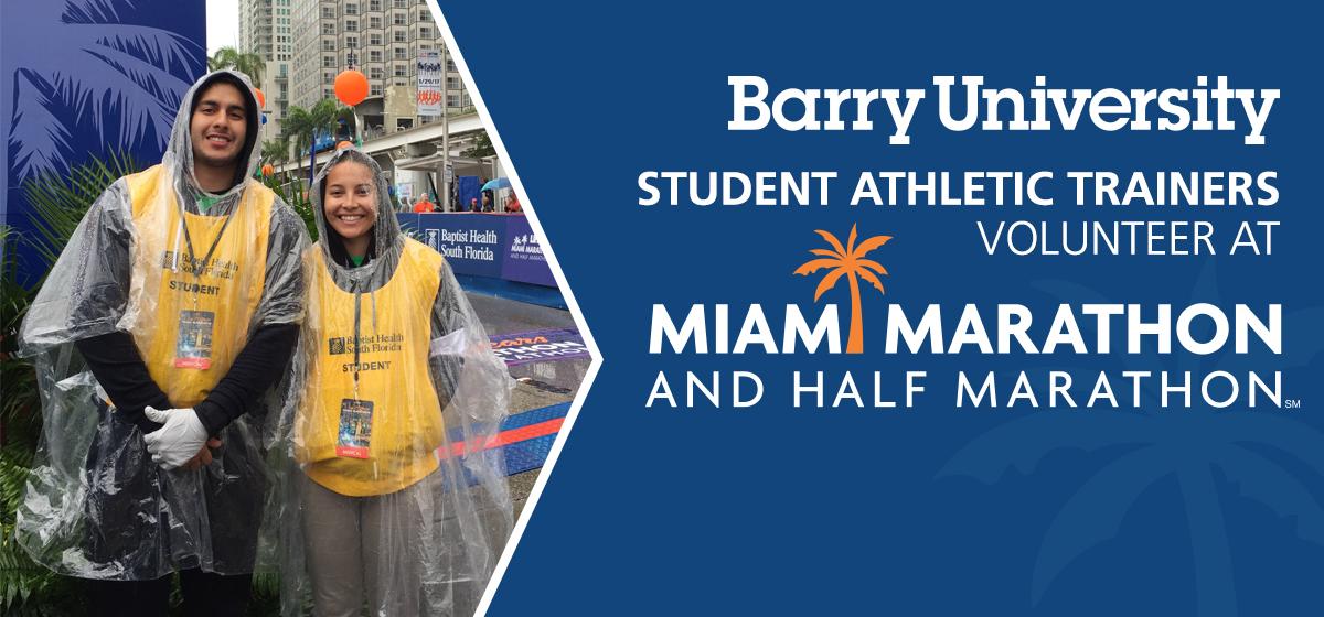 Barry student athletic trainers volunteer at Miami Marathon