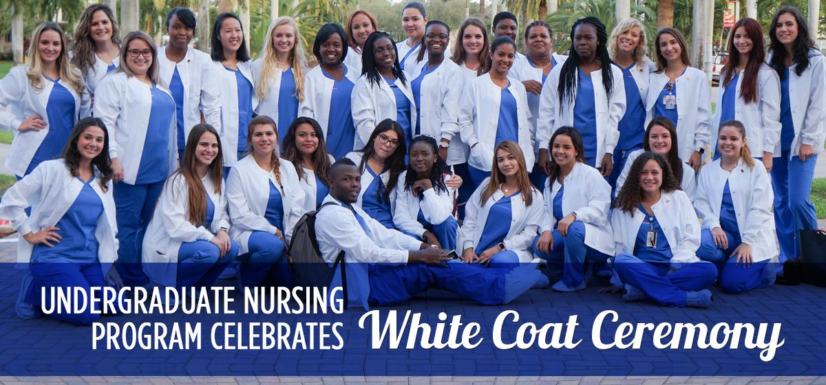 Undergraduate nursing program celebrates White Coat Ceremony.