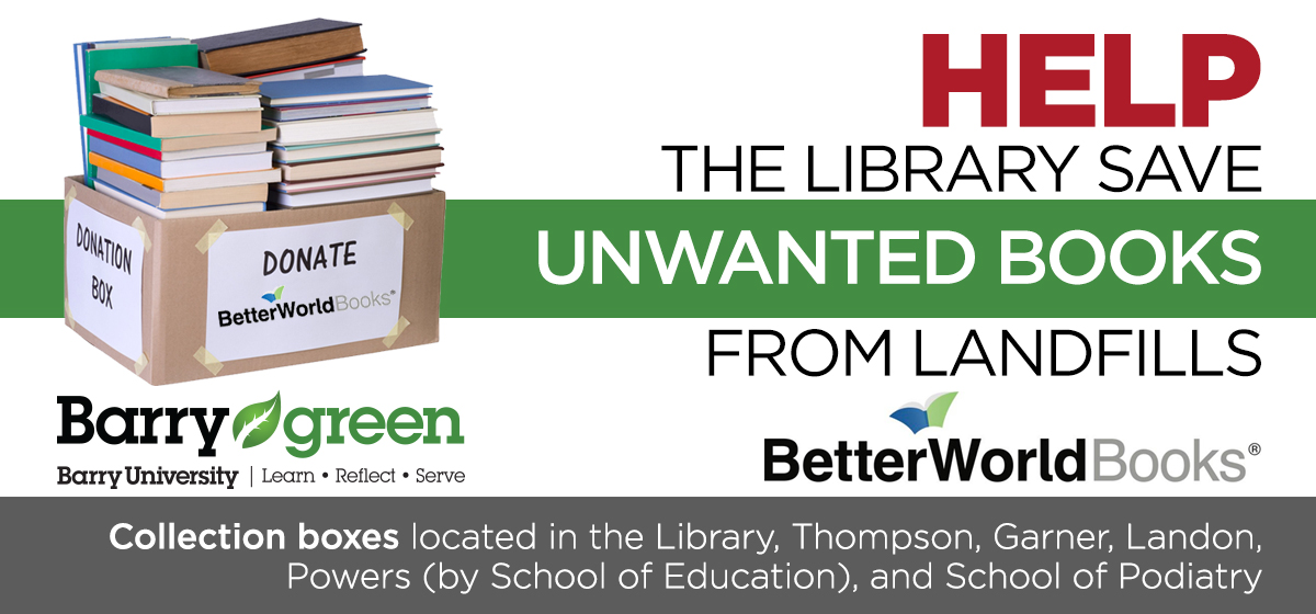 Monsignor William Barry Memorial Library Is Helping To Save Unwanted Books From Landfills
