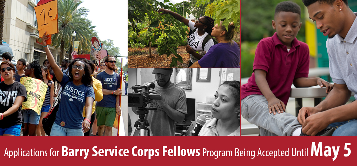 Applications for Barry Service Corps Fellows Program Being Accepted Until May 5