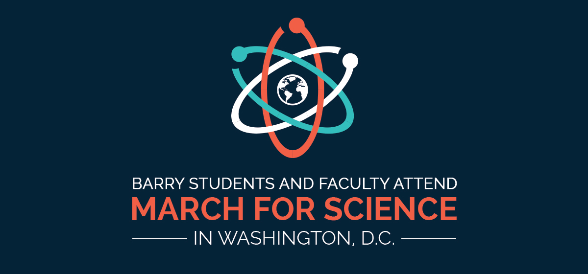 Barry students and faculty attend March for Science in Washington, D.C.
