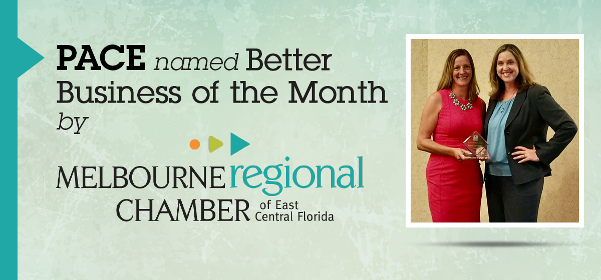 PACE named Better Business of the Month by Regional Chamber of East Central Florida