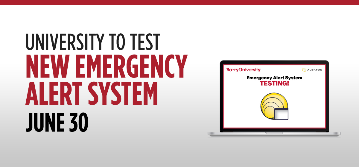 University to test new emergency alert system June 30