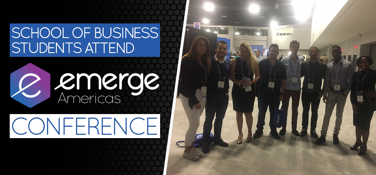 School of Business students attend eMerge Americas conference