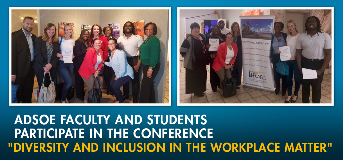 ADSOE faculty and students participate in the conference,