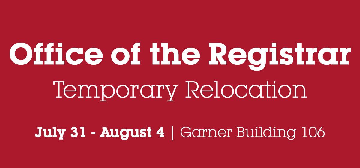 Office of Registrar, Temporary Location