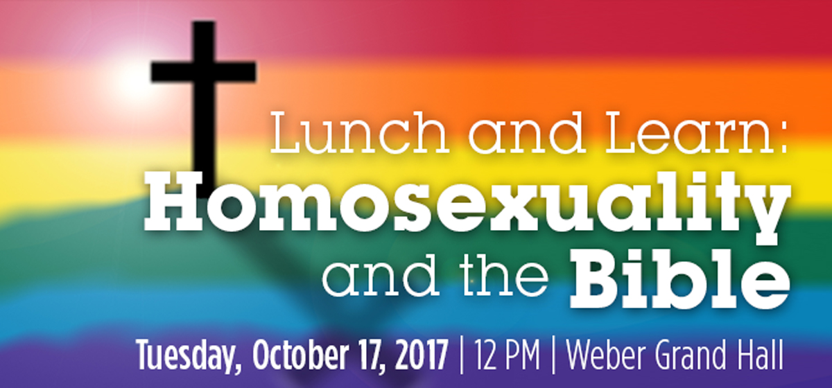 Lunch and Learn: Homosexuality and the Bible